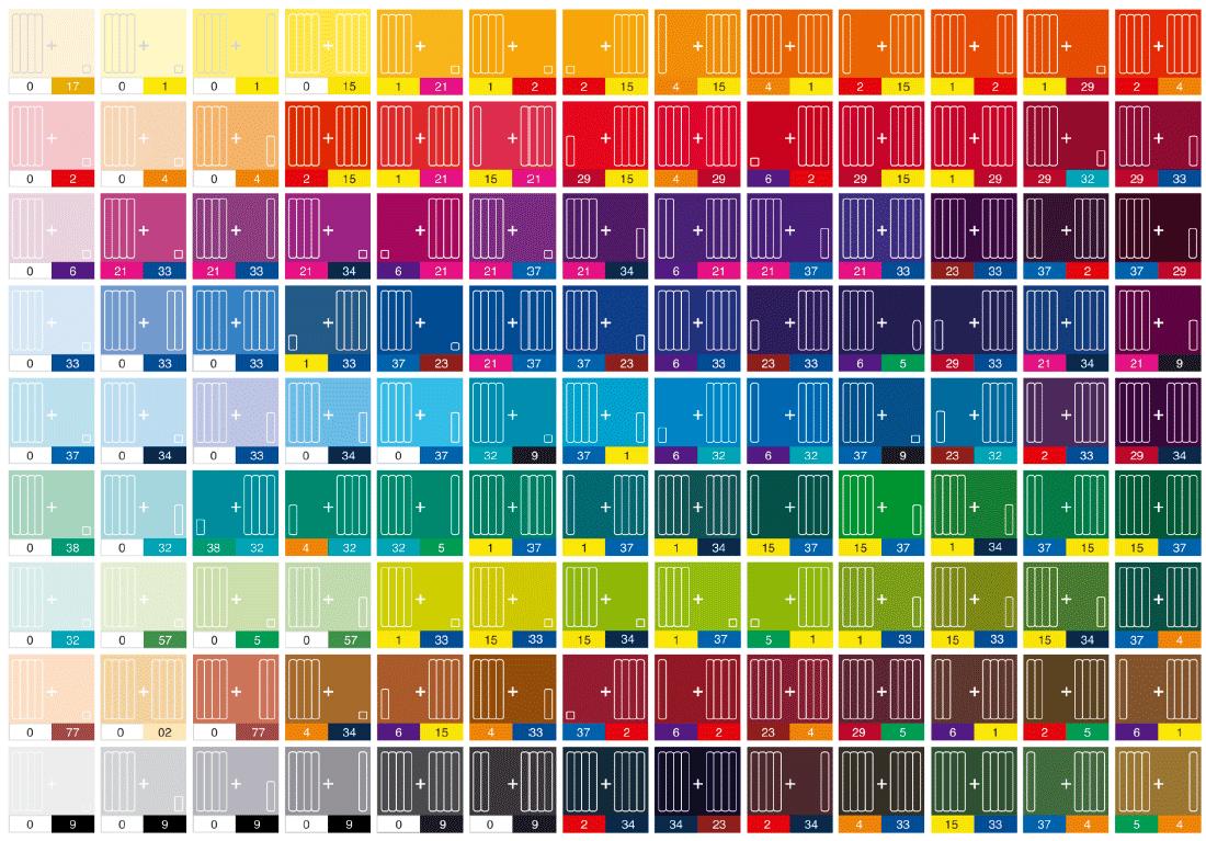 таблица цветов с наименованием