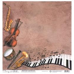 Открытки с музыкальными инструментам 152