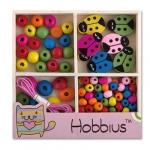 Hobbius Набор деревянных бусин для рукоделия №4 Божья коровка (WBS-01)