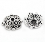301273-1 Шапочка для бусины, 10 мм, античное серебро