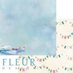 """Fleur Бумага для скрапбукинга, коллекция Морская прогулка """"МОРСКОЙ ПЕЙЗАЖ"""" 30х30 см."""