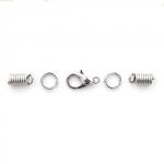 Набор фурнитуры для колье из шнурка, цвет никель (Set-002-2)
