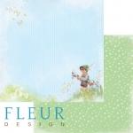 "Fleur Design Бумага для скрапбукинга, Мальчики ""Прогулка"" 30х30 см."