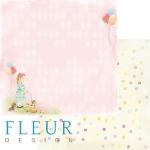 """Fleur Design Бумага для скрапбукинга, Девочки """"Моменты"""" 30х30 см."""