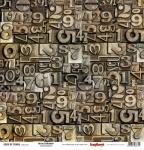 "ScrapBerrys Бумага двусторонняя, Гаражи ""ЦИФРЫ И МИКРОСХЕМЫ"", 30х30 см"