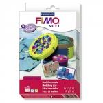 FIMO soft, Набор полимерной запекаемой глины ХОЛОДНЫЕ ЦВЕТА (8023 04)