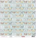 "ScrapBerrys Бумага односторонняя, Бабочки ""Бабочки"", 30х30 см"