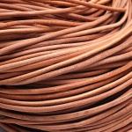 Шнур кожаный, 3 мм натурального цвета (метражом)