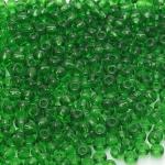 Preciosa 50120 Круглый бисер прозрачный № 5, зелёный, 50 г.
