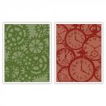 Форма для эмбоссирования 'Часы и шестеренки', 2 шт., Texture Fades