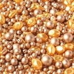 """Preciosa Стеклянные бусины ассорти """"Pearl"""", № 002 золото, 250 г."""