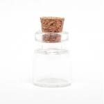 Стеклянная бутылочка с пробкой, 13х18 мм (0.5 мл)