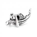 300913 Подвеска 3D Лодка, античное серебро