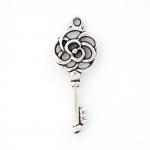 300932 Подвеска двухстронняя Ключ, античное серебро