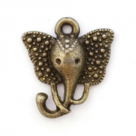 "300960 Подвеска ""Слон"", античная бронза"