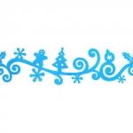 Annet Лента из фетра Новогодние мотивы, голубая (T129)
