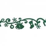 Annet Лента из фетра Новогодние мотивы, зелёная (C019)