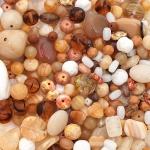"""Preciosa Стеклянные бусины ассорти """"Seaside"""", № 001 песочные, 250 г"""