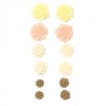 Набор объемных самоклеющихся цветов, ШЕББИ