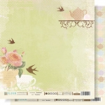 """Fleur Бумага для скрапбукинга """"ЧАЕПИТИЕ"""" (коллекция Девишник) 30х30 см."""
