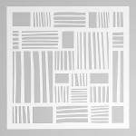 Event Design Трафарет пластиковый, 15х15 см, ПОЛОСКИ