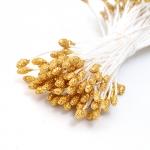 Fiorico Тычинки для искусственных цветов, 2 мм, под золото (85 шт.)