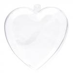 "Love2Art Заготовка из прозрачного пластика ""Сердце"", 10х9.8х5.6 см"