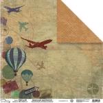 Mr.Painter Бумага двусторонняя ПУТЕШЕСТВИЕ (PSW14-001), 30.5х30.5 см